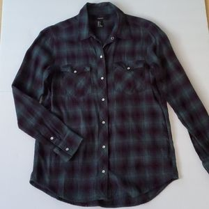 Long Sleeve button down Plaid Shirt